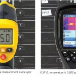 Temperature measurement - comparing a spot temperature sensor with a thermal camera
