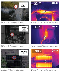 Comparing the view - Spot radiometer v Thermal Imager
